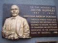 Jacob Ruppert's Plaque