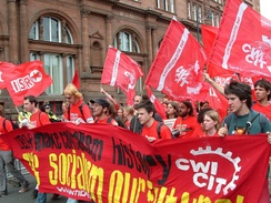 Some Socialist Party members on the CWI (now ISA) contingent of the anti-G8 demonstration in Edinburgh