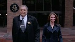 The cast of the tenth and final season of Law & Order: Criminal Intent (2011): Vincent D'Onofrio and Kathryn Erbe