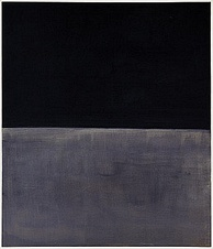 Mark Rothko, Untitled (Black on Grey), 1970, Solomon R. Guggenheim Museum, New York City. One of Rothko's final paintings which relate closely to both Minimal art and Color Field painting.[23]