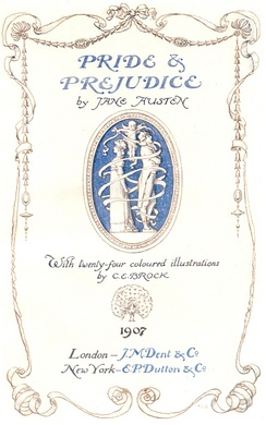 Title page of a 1907 edition illustrated by C. E. Brock