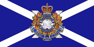 The camp flag of The Canadian Scottish Regiment (Princess Mary's).