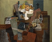 1914–15, Nature morte au compotier (Still Life with Compote and Glass), oil on canvas, 63.5 × 78.7 cm (25 × 31 in), Columbus Museum of Art, Ohio
