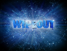 Wipeout title card used from 2008-2010. The logo can still be seen around the course.