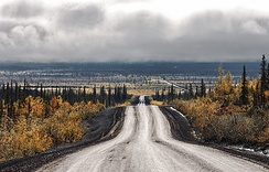 Dempster Highway, south of Inuvik, Northwest Territories