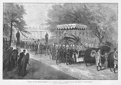 Emperor Frederick III's funeral procession