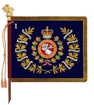 The regimental colour of 1st Battalion, Royal Newfoundland Regiment