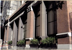 The First U.S. Branch Mint in California is located at 608–619 Commercial Street, San Francisco, San Francisco County. The branch opened on April 3, 1854. Today the building houses the Pacific Heritage Museum.