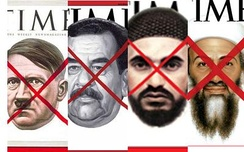 Time red X covers: from left to right, Adolf Hitler, Saddam Hussein, Abu Musab al-Zarqawi, and Osama bin Laden