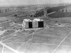 U.S. Army's Ross Field Balloon School hangars