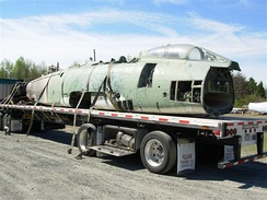 F-100D delivered to Carolinas Aviation Museum