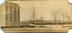A game against Yale on the Fordham baseball field, April 1902