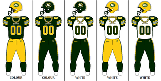 The Edmonton Football Team's 2012–2015 uniform combinations