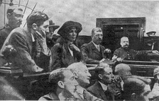 Lenton and Harry Johnson (left) in the dock at Leeds Assizes in June 1913