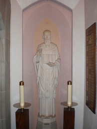 Statue of the saint in St Athanasius's Catholic Church in Evanston, Illinois
