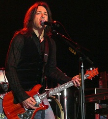 Michael Sweet performing with Boston on June 13, 2008