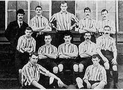 The United team from 28 September 1895 before a match against Stoke City.