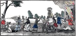 A contemporaneous depiction of the New River Massacre in 1836