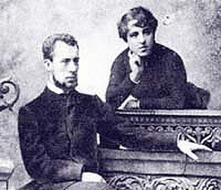 Nikolai von Meck with his wife Anna Davydova
