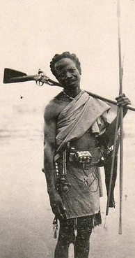 A nationalist fighter from the rural southeast. The rebels were poorly armed, as only a few had rifles. Most faced the modern French military with simple spears.
