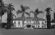 The former Wrigley Mansion in Pasadena, California, now the headquarters of the Tournament of Roses Parade