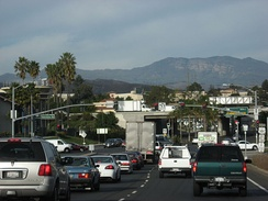 Typical rush hour traffic in Ventura