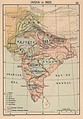 Map of India in 1823.