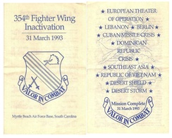 Inactivation Ceremony Program – 31 March 1993