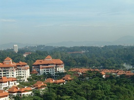 Similar shot on the morning of 2 November 2006. Notice the Parliament, the Tugu Negara and the mountains.