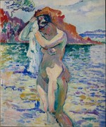 Henri Manguin, 1906, Baigneuse (Woman Bather), oil on canvas, Pushkin Museum, Moscow
