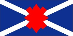 The camp flag of The Black Watch (Royal Highland Regiment) of Canada