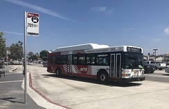 MTS bus operating in Chula Vista, CA.