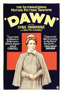 Movie poster for 1928 silent film Dawn.jpg