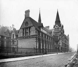 Old Medical School on Coupland Street (photographed in 1908)--one of the buildings which have housed the Press