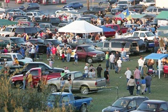 Tailgate party before Javelina football game