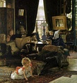 A mid-Victorian interior: Hide and Seek by James Tissot, c. 1877