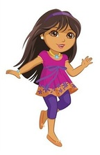 Dora the Explorer as a tween, as seen after being revealed in 2009.