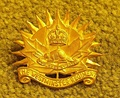 Hat badge of The Westminster Regiment, as worn during World War II