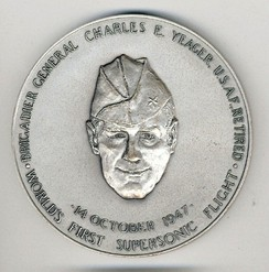 Special Congressional Silver Medal awarded to Yeager in 1976