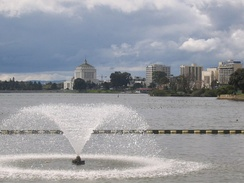 View of Lake Merritt looking southwest from the northeastern tip of the lake
