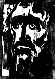 Membership in the Nazi Party did not protect Emil Nolde, whose 1912 woodcut The Prophet is shown here. 1052 of Nolde's paintings were removed from German museums, more than any other artist.