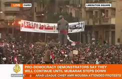 Al Jazeera English's coverage of the Egyptian Revolution of 2011 led to calls for the channel to be aired in the U.S.