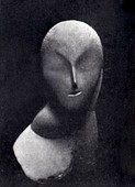 Constantin Brâncuși, 1912, Une Muse, plaster, 45.7 cm, Armory Show postcard. Exhibited: New York, Armory of the 69th Infantry (no. 618); The Art Institute of Chicago (no. 26) and Boston, Copley Hall (no. 8), International Exhibition of Modern Art, February-May 1913