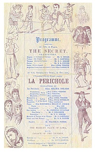 Programme for the first London production of La Périchole