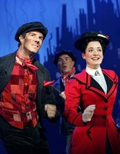 "Mary (Laura Michelle Kelly) and Bert (Gavin Lee) during ""Step in Time""."