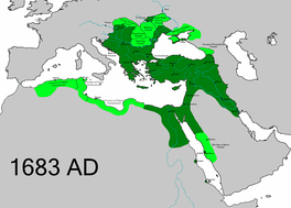 Ottoman Empire in 1683, at the height of its territorial expansion in Europe.