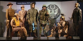 """Enlisted Heritage Uniforms"" exhibit on display at National Museum of the U.S. Air Force"