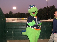 The Lake Monsters' mascot, Champ
