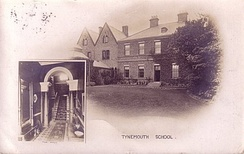 Postcard showing the headmaster's house, c. 1910