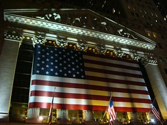 The New York Stock Exchange, the world's largest by total market capitalization of its listed companies.[58]